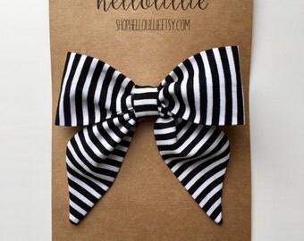 Black Stripe Sailor Bow