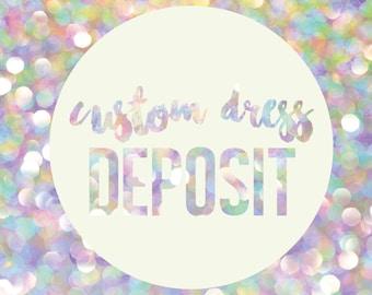 Custom leotard or dress deposit