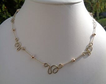 585 gold filled necklace with Freestyle elements