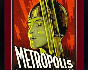 Metropolis Poster Custom Framed Print A+ Quality