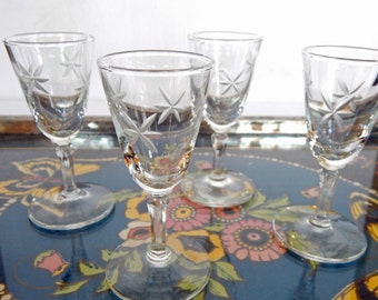 Lovely Set of Tiny Cordial Glasses