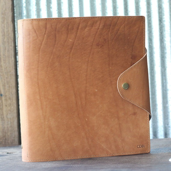 The Langley Personalized Fine Leather 3 Ring Binder Gifts