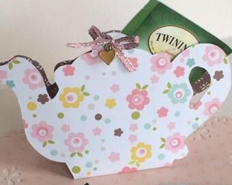 Teapot gift card holder, handmade gift card holder