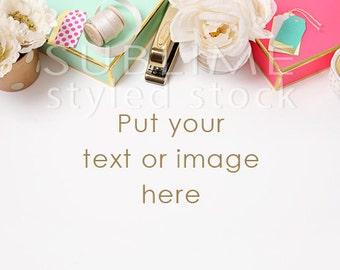 Styled Stock Photography / Styled Desktop  / Background Photo / Mock Up / Flat lay / Social Media / JPEG Digital Image / StockStyle-625