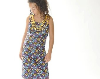 African print Girls Dress with beads