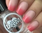 Thermal Nail Polish - Red Nail Polish - Color Changing Polish - Pink Nail Polish