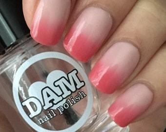 Thermal Nail Polish - Red Nail Polish - Color Changing Polish - Pink Nail Polish - Fourth of July - Blushing Nudie