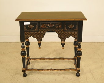 28425E: William & Mary Chinoiserie Decorated Low Boy Dressing Table