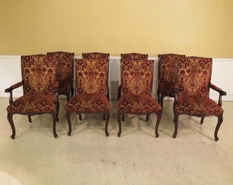 L40017E: Set Of 8 EJ VICTOR French Style Dining Room Chairs