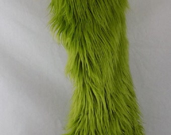 Green Fur Christmas stocking