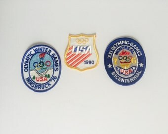 "TEAM USA Olympic Patches | Innsbruck '76 Montreal ""76 USA 80""