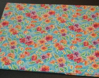 Bright Floral Cotton Fabric   #327