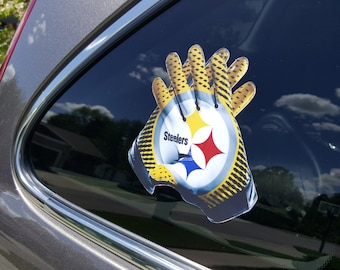 """Limited Edition Pittsburgh Steelers """"Glove"""" Vinyl Decal Sticker Free Fast Shipping! Best Selling Style! Buy 2 Get 1 Free! #1 Steelers Decal"""