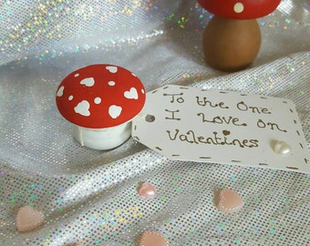 The one I love valentines toadstool valentines gift shelf sitter