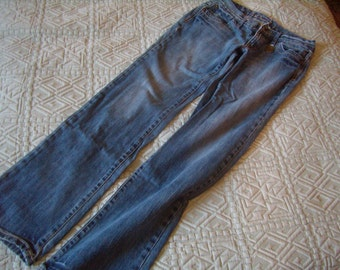 Trousers woman jean denim, size 38-40, waist, faded, Vintage 1990