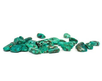 Small Chip Turquoise, Green Turquoise Bead
