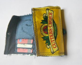 Tobacco Pouch Wallet, Upcycled Denim Wallet, Bespoke Wallet