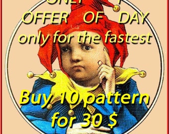 Special Offer - Buy 10 pattern Cross Stitch Patterns for 30 dollars punto de cruz point de croix needlework, needlepoint