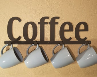 Tea Mug Holder, Coffee Cup Rack, Kitchen Cup Organizer, Coffee Mug Hanger