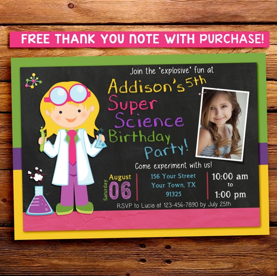 SCIENCE Birthday Invitation / Science Party Invitation / Science Birthday Party / Science Party / Scientist / PRINTABLE