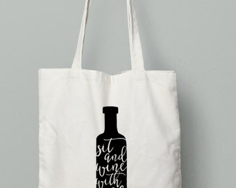 Wine Tote, wine bottle, wine gift
