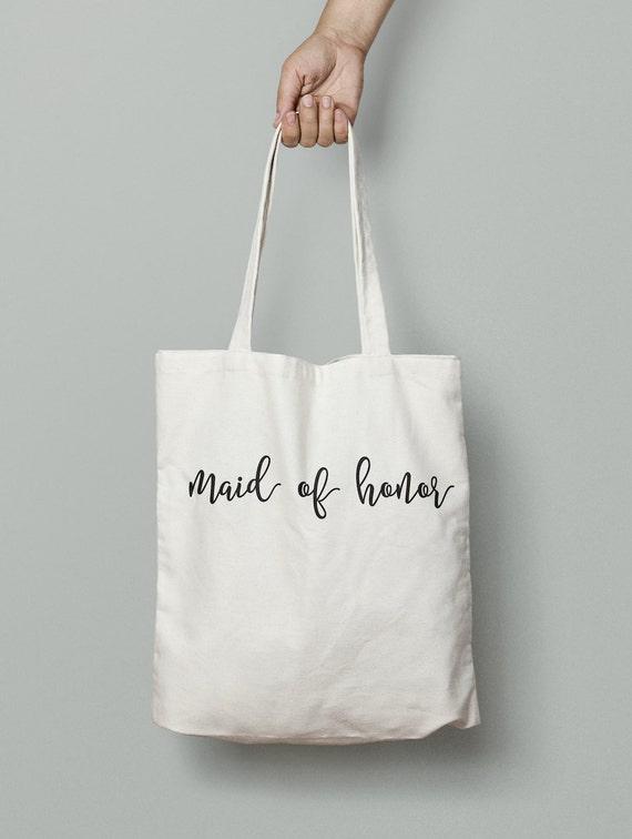 Maid of Honor Tote Bag, maid of honor, wedding tote, bridal party tote, bridal party gift