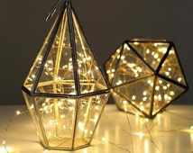 5 metre Battery light string. Copper wire & white lights - wedding decor - wedding lights - christmas lights - fairy lights