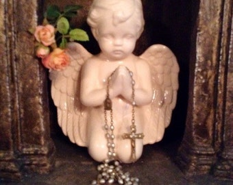 Beautiful Delicate Antique Pearl Rosary From Czechoslovakia