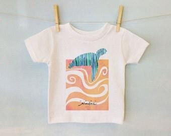 Baby T-shirt, Turtle swim, Toddler T-shirt, Kid t shirt, Hawaii Baby – white cotton, exclusive design, unisex