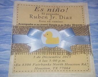 Little Bear Baby Shower Invitation