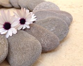 20 Large Beach Stones, Flat Beach Pebbles, Wedding Stones, Flat Stackable Stone, Guest Book Stones, Large Stacking Stones