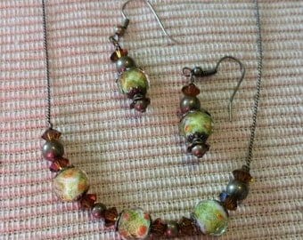 SALE...Beginning Of Autumn Necklace n Earring Set..was 12.00