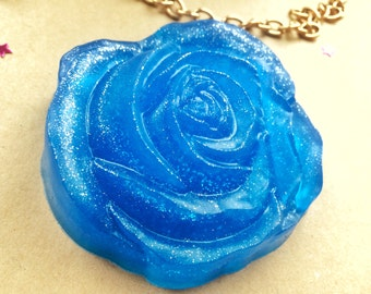 Blue rose soap, rose soap, glitter rose, glitter soap, flower soap, royal blue rose, flowers soap, blue soap,gothic lolita soap,amazing soap