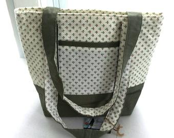 large tote bag..book bag..weekend bag..project bag..knitting bag