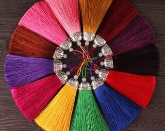 2pcs Silk Tassel,Mala Tassel,Quality Tassel,Silky Luxe Tassels, Boho Tassel,Craft Supplies,Designer Jewelry Making TAS003