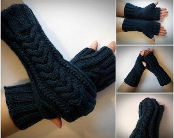 knitted mittens. Women's knit fingerless Knit gloves Winter fingerless gloves.handmade