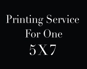 Printing Service for 5X7