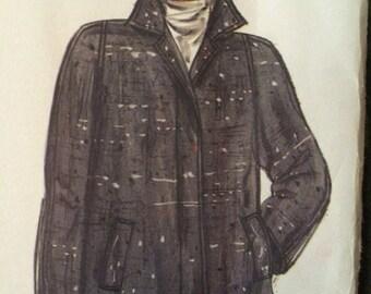 Designer Swing Coat Pattern---Vogue 1434 by Oscar de la Renta
