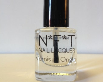 N11 Caution-Wet! Vegan Clear TopCoat / BaseCoat Nail Polish / Indie Lacquer