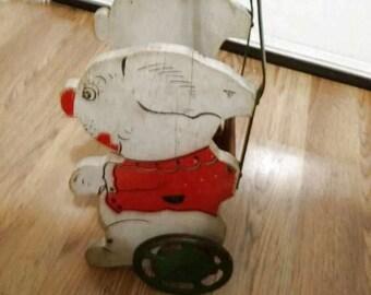 Antique Doll Stroller, Wood Dog Stroller, Doll Stroller, Stroller with Dog Sides, Old Stroller, Stroller