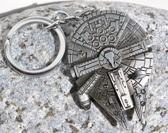 Star Wars Millennium Falcon Keyring Keychain Steampunk look!