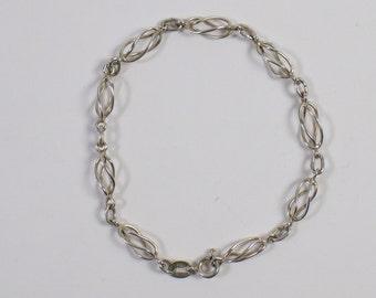 Vintage hand made silver bracelet.