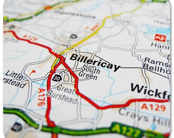 Billericay Map Coasters