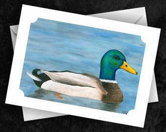 Duck - 7x5 Folded Greetings Card