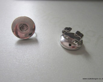 Chunk/Snap Button Bracelet Slider With Arms Fits Larger 18-20mm Buttons x 1