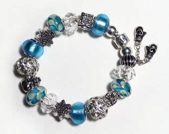 Genuine Pandora Bracelet ~ BABY It's COLD OUTSIDE ~ with European Style Beads