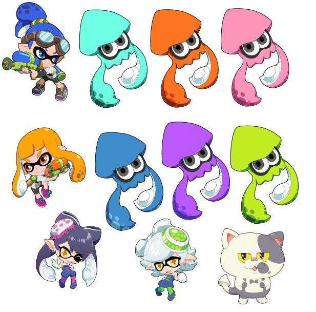 Splatoon Inkling Boy And Girl Callie And Marie Judd And