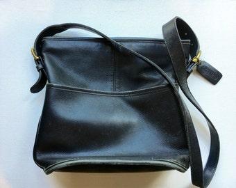 Vintage Coach Bucket Bag | Black Leather Bleeker Bag| Cross Body Purse