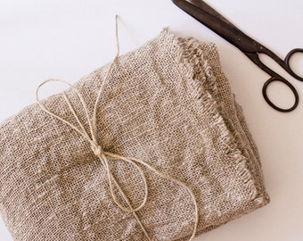 100% Hemp Burlap Fabric - Prewashed