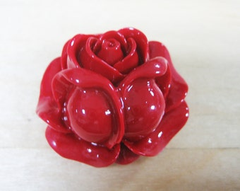 Resin Rose Pendant (2pc)